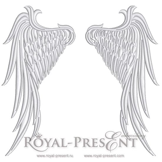 Дизайн машинной вышивки Крылья Ангела - 4 размера RPE-096