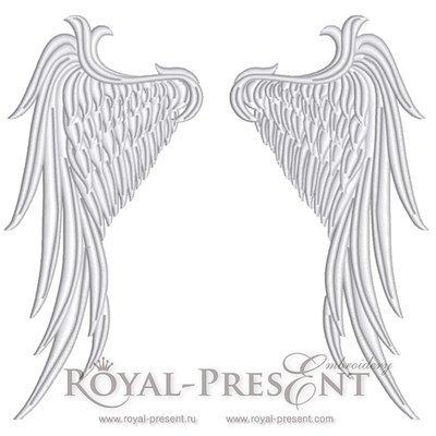 Дизайн машинной вышивки Крылья Ангела - 4 размера