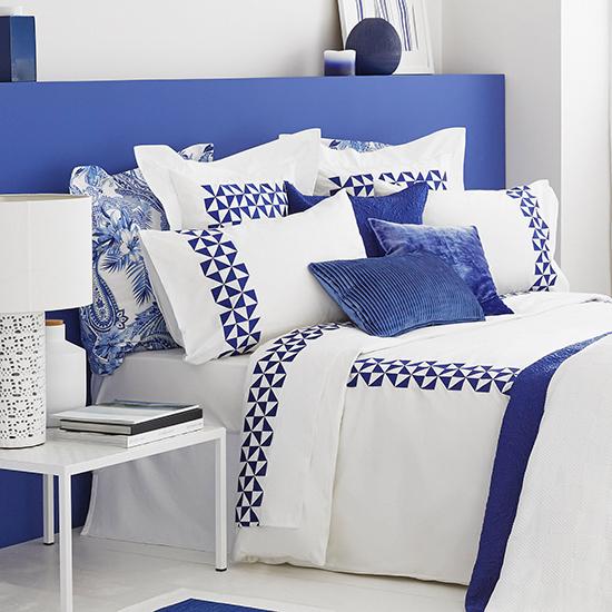 Дизайн машинной вышивки Синяя графика RPE-1129
