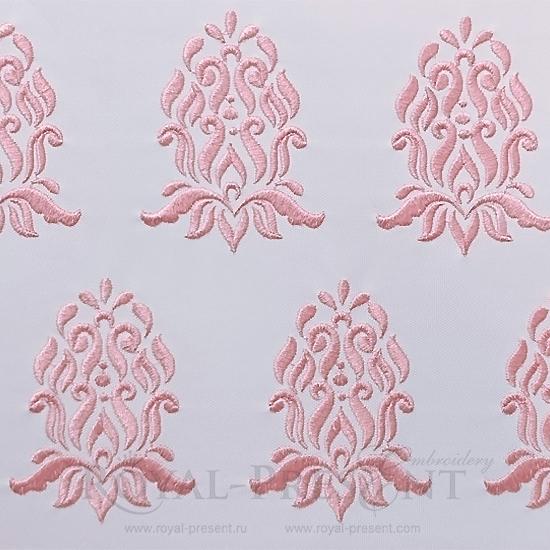 Дизайн машинной вышивки Винтажный элемент