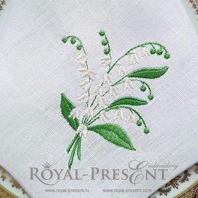 Дизайн машинной вышивки Букетик ландышей