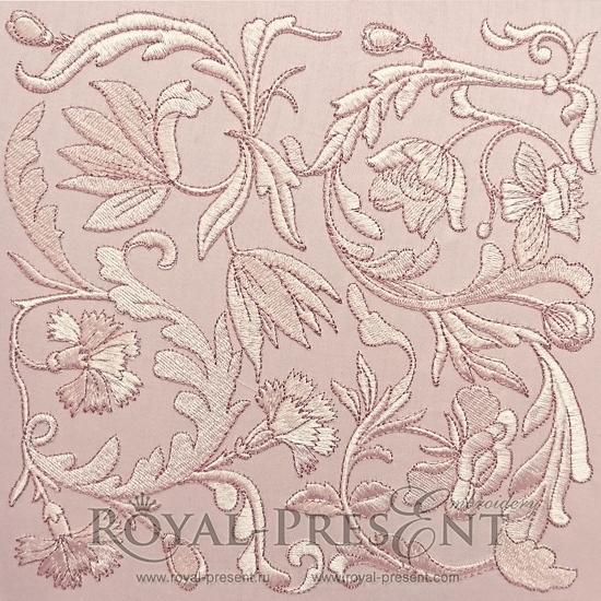 Дизайн машинной вышивки Классический цветочный декор PRE-495