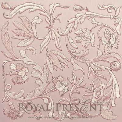 Дизайн машинной вышивки Классический цветочный декор