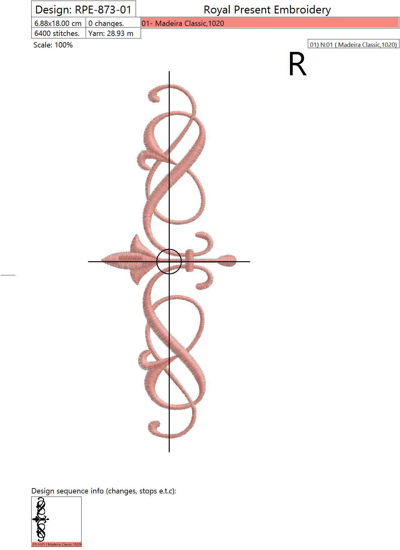 Набор дизайнов машинной вышивки Три декоративных элемента