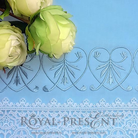 Дизайн машинной вышивки Голубой классический элемент PRE-1141