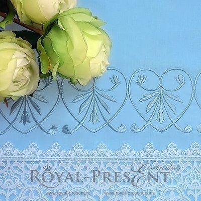 Дизайн машинной вышивки Голубой классический элемент