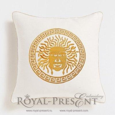 Дизайн для декоративной подушки Медуза Горгона