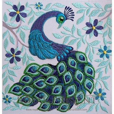 Дизайн машинной вышивки Королевский Павлин