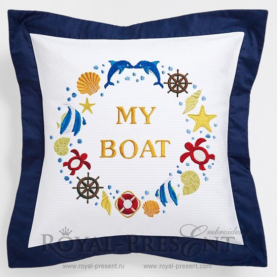 Дизайн машинной вышивки Мой Корабль