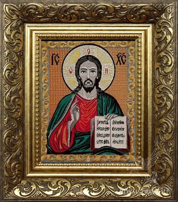 Дизайн машинной вышивки Икона Иисуса Христа