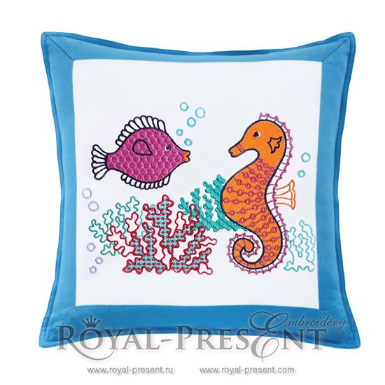 Дизайн для машинной вышивки Морское дно RPE-318