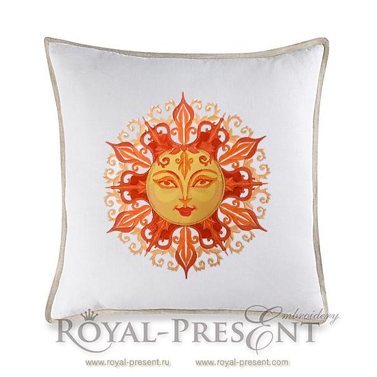 Дизайн машинной вышивки Красно Солнышко - 3 размера RPE-051
