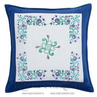 Комплект дизайнов машинной вышивки Изумрудные цветы