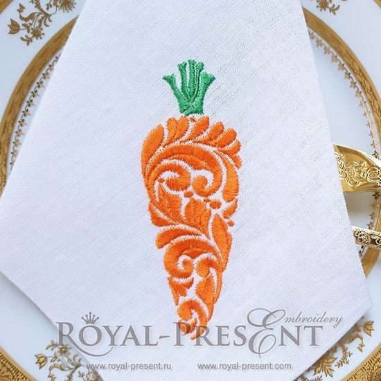 Дизайн машинной вышивки Витиеватая морковь