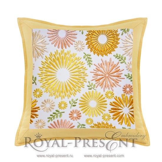 Дизайн для машинной вышивки Цветочная поляна PRE-511