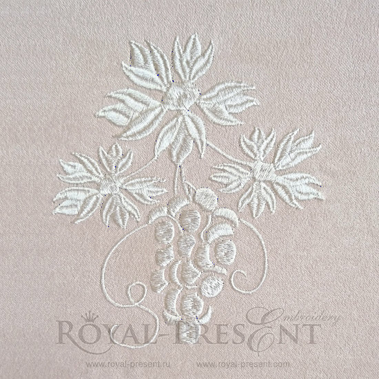 Дизайн машинной вышивки бесплатно Однотонный виноград RPE-349-02