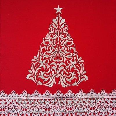 Дизайн машинной вышивки Новогодняя елка - 3 размера