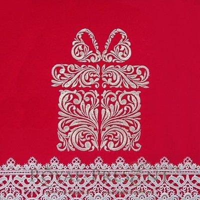 Дизайн машинной вышивки Праздничная подарочная коробочка