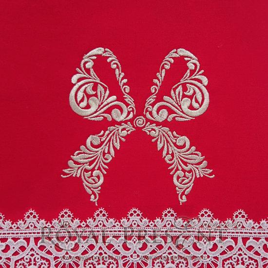 Дизайн машинной вышивки Праздничный бант - 2 размера RPE-834