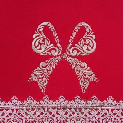 Дизайн машинной вышивки Праздничный бант - 2 размера