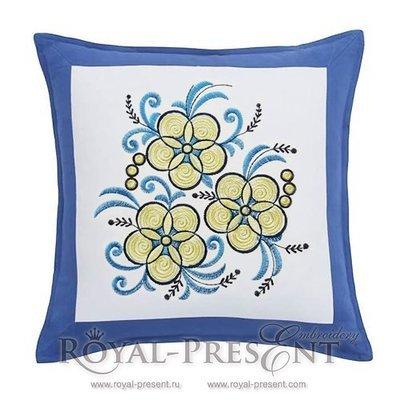 Дизайн для машинной вышивки Три цветка