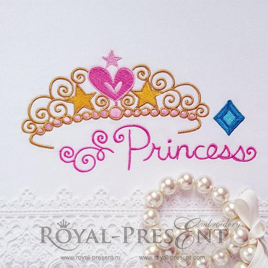 Дизайн машинной вышивки Тиара для принцессы RPE-729-01