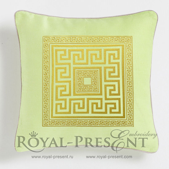 Греческий орнамент Дизайн для машинной вышивки RPE-041