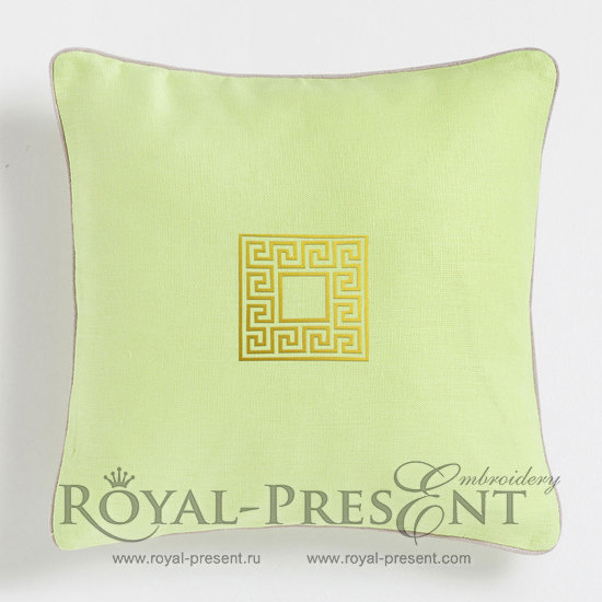 Бесплатный Дизайн машинной вышивки Греческий орнамент RPE-044