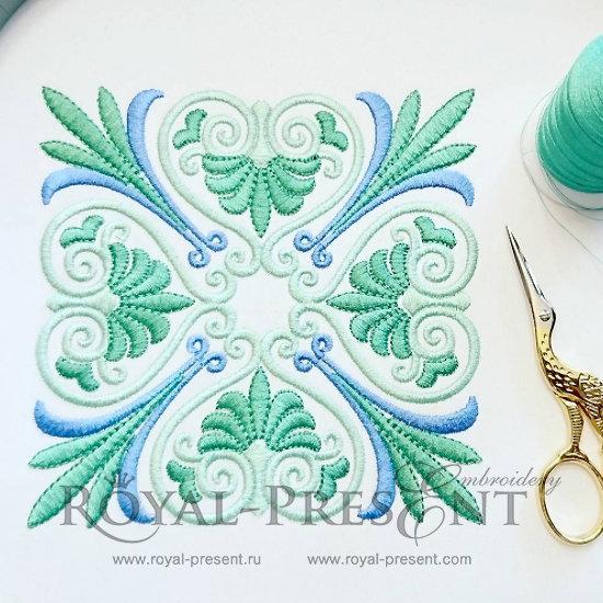 Дизайн для декоративной подушки или бордюра Классический греческий орнамент - 3 размера RPE-167