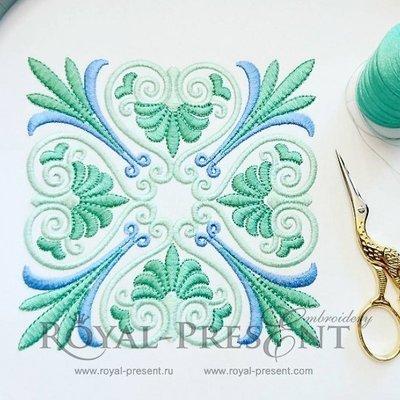 Дизайн для декоративной подушки или бордюра Классический греческий орнамент - 3 размера