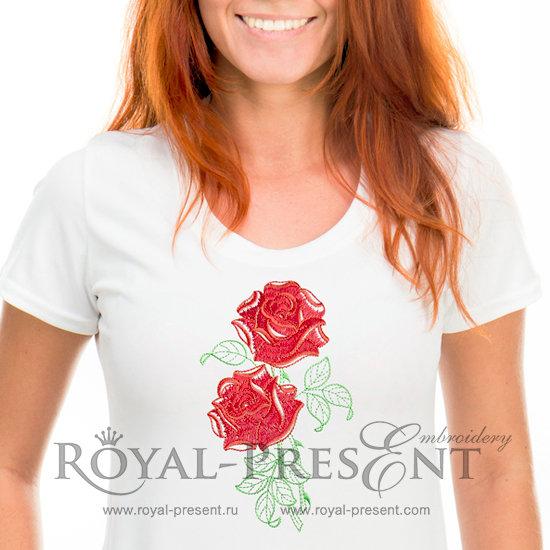 Дизайн для машинной вышивки Розы