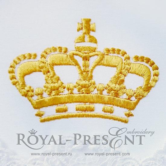 Дизайн машинной вышивки бесплатно Корона RPE-425