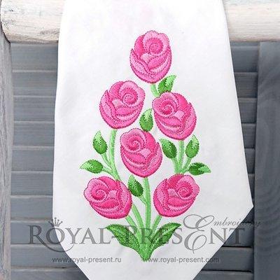 Дизайн для машинной вышивки Розовый куст