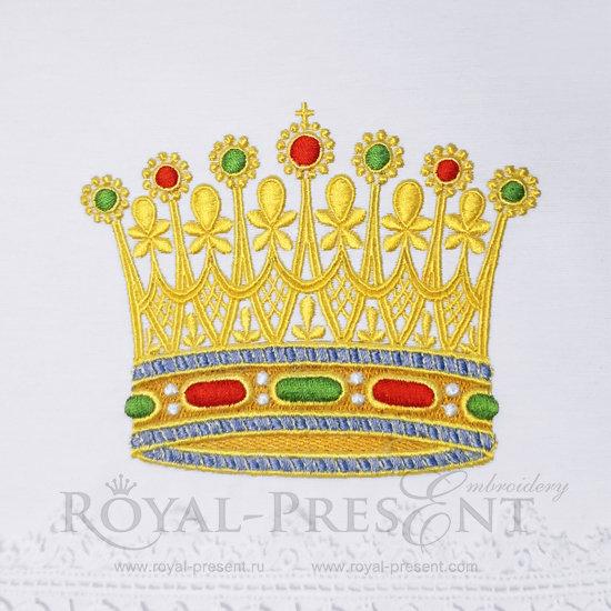 Дизайн для машинной вышивки Золотая Корона FRP-020