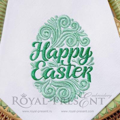 Дизайн машинной вышивки Витиеватое Пасхальное яйцо - 2 размера