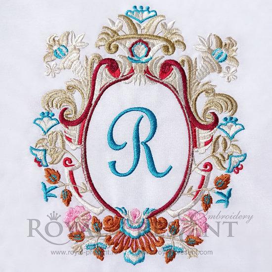 Дизайн для машинной вышивки Роскошная классика для монограммы - 2 размера RPE-437