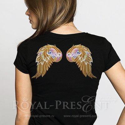 Дизайн машинной вышивки Декоративные Крылья Ангела - 4 размера