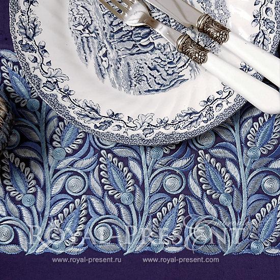 Дизайн машинной вышивки Голубая Бесконечность RPE-765
