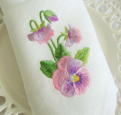 Дизайн для машинной вышивки Анютины глазки