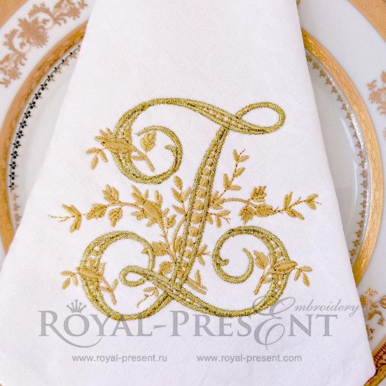 Дизайн машинной вышивки бесплатно Монограмма винтажная буква Z RPE-444-Z