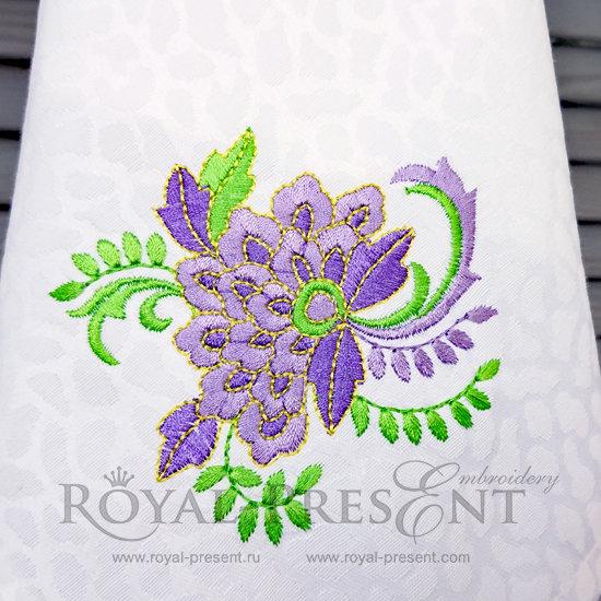 Дизайн машинной вышивки бесплатно Букет RPE-825-free