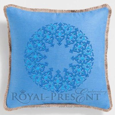 Дизайн машинной вышивки Круглый Османский орнамент