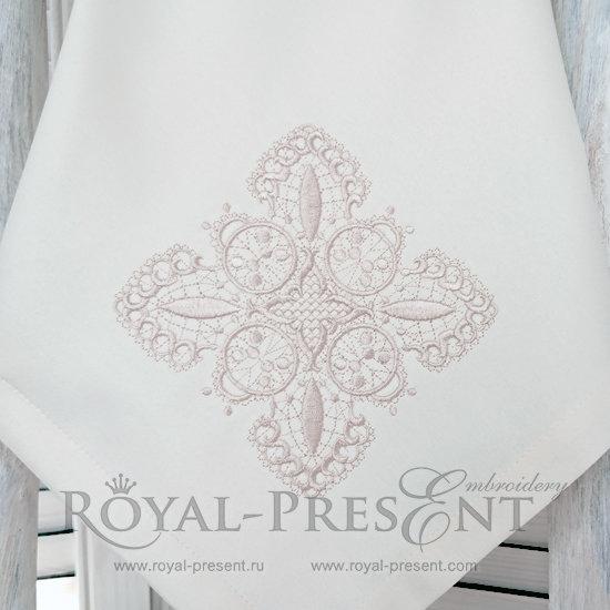 Дизайн машинной вышивки Кружевной квадрат RPE-625