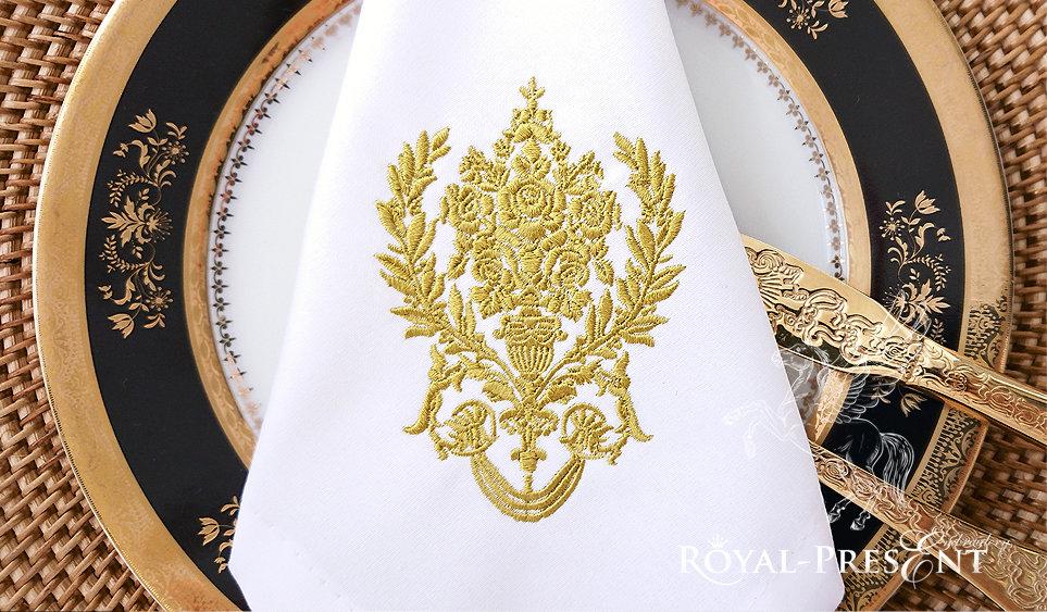 Дизайн машинной вышивки Дамасский узор - 2 размера