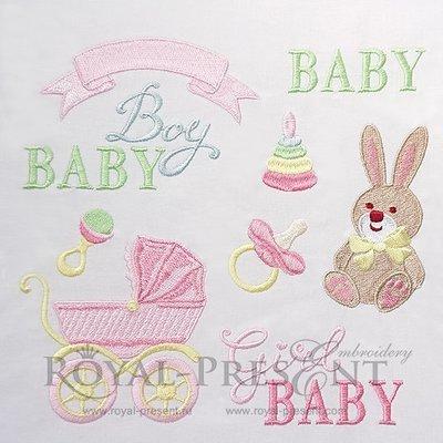 Набор дизайнов машинной вышивки для новорожденных - 10 дизайнов