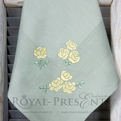 Дизайны машинной вышивки Мини розы