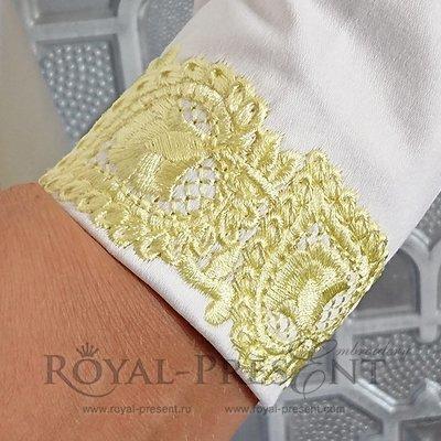 Дизайн машинной вышивки Восточный бордюр - 2 размера