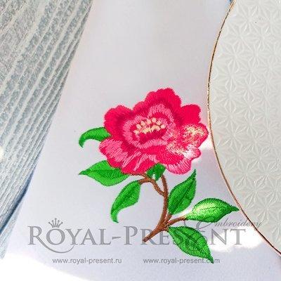 Дизайн машинной вышивки Чайная роза - 2 размера