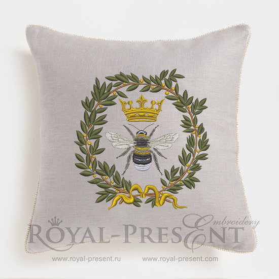 Дизайн машинной вышивки Королевская Пчела - 3 размера