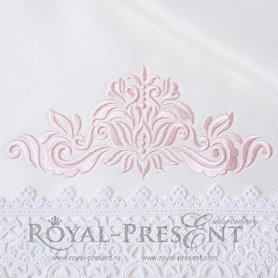 Дизайн машинной вышивки Абстрактный Элегантный декор III - 3 размера RPE-1183-03